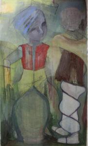 n.o.T. / 160x95 cm / Mischtechnik, Papier auf Leinwand